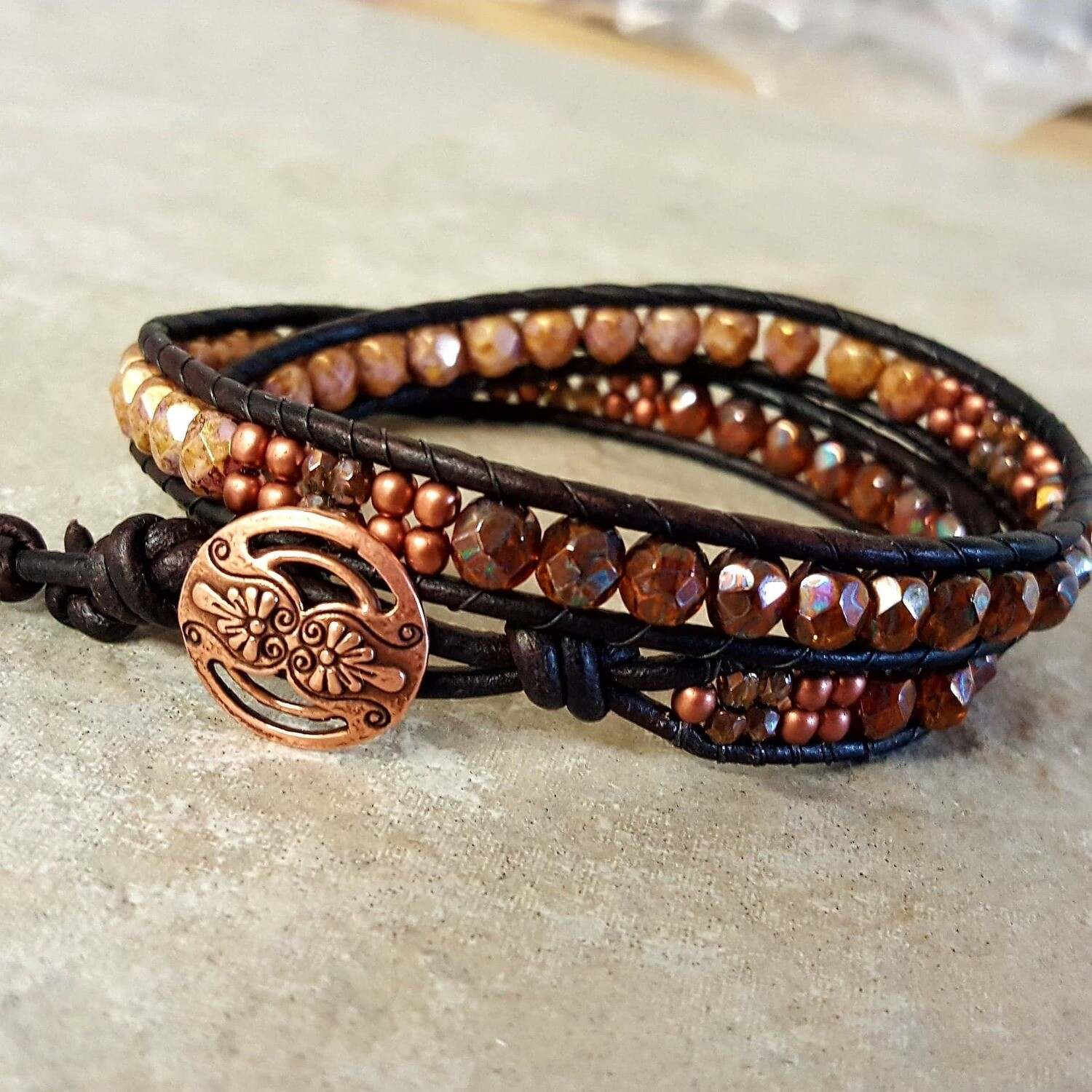 ______Leather Wrap Bracelet______ Call to arrange a private lesson!