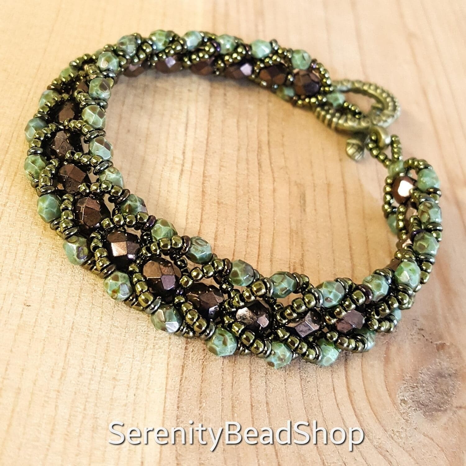 _____Czech Flat Spiral Bracelet_____ Call to arrange a private lesson!