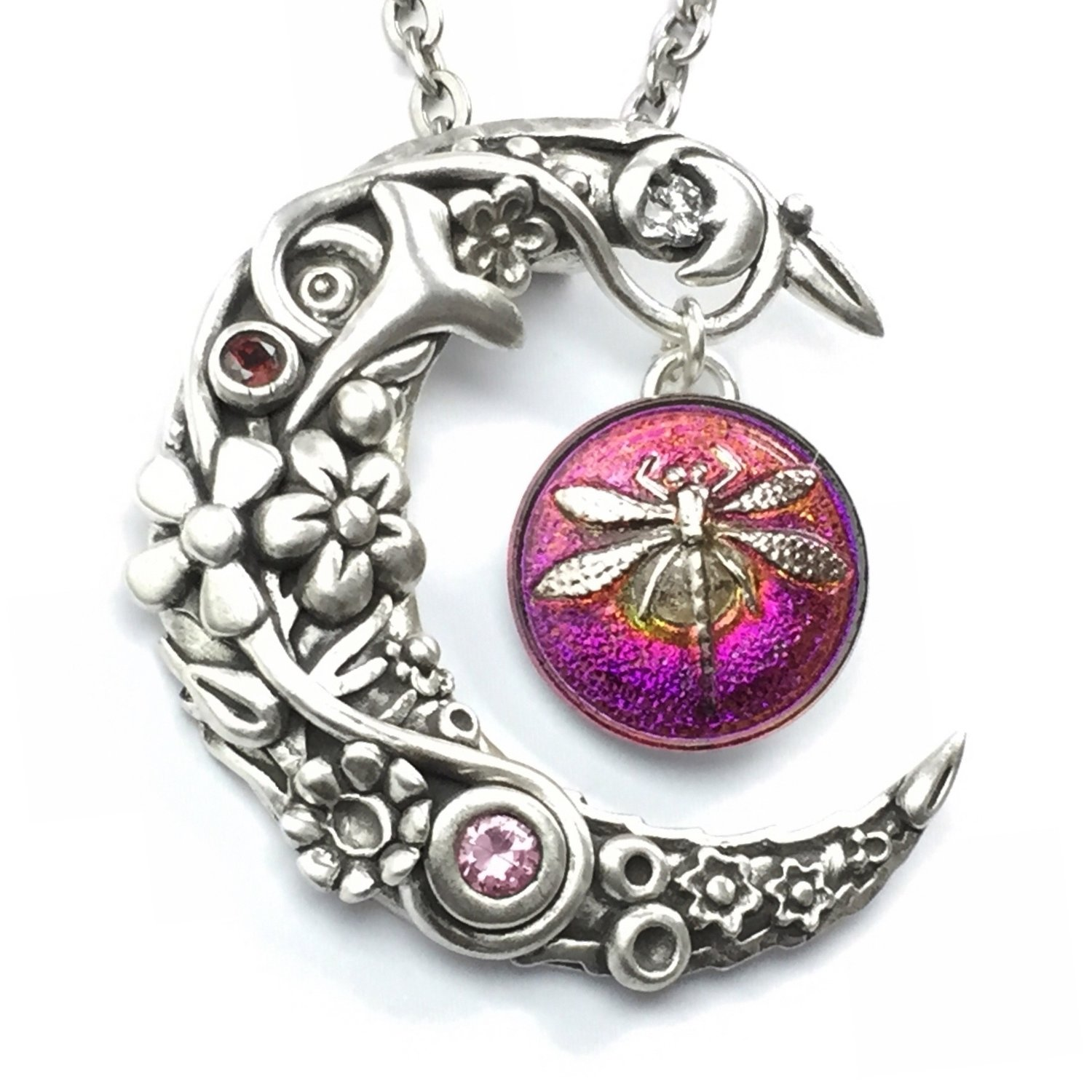 _____Bejeweled Moon Pendant_____ **BEING RESCHEDULED!!**
