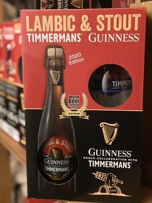 Cadeaubox Guinness/Timmermans Lambic & Stout 37,5 cl + proefglas