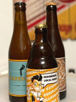 Pakket HOP 2 à 4 pers - 3 blonde bieren + tapas foodpairing recepten