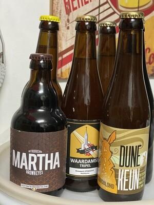 Pakket HOP 2 à 4 pers - 3 blonde + 3 bruine bieren + tapas foodpairing recepten