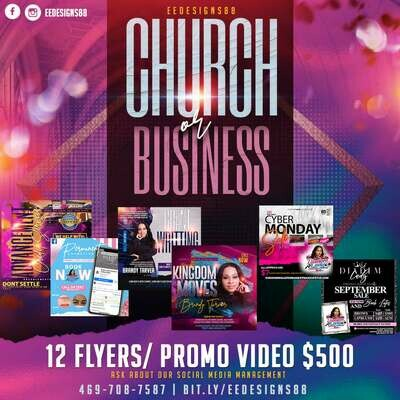Church or Business 12 Flyer and Promo Video