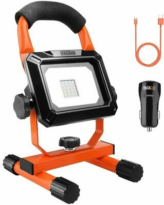 TACKLIFE Rechargeable Work Light,15W Camping Light With Lumen LED Bright,Car Charger