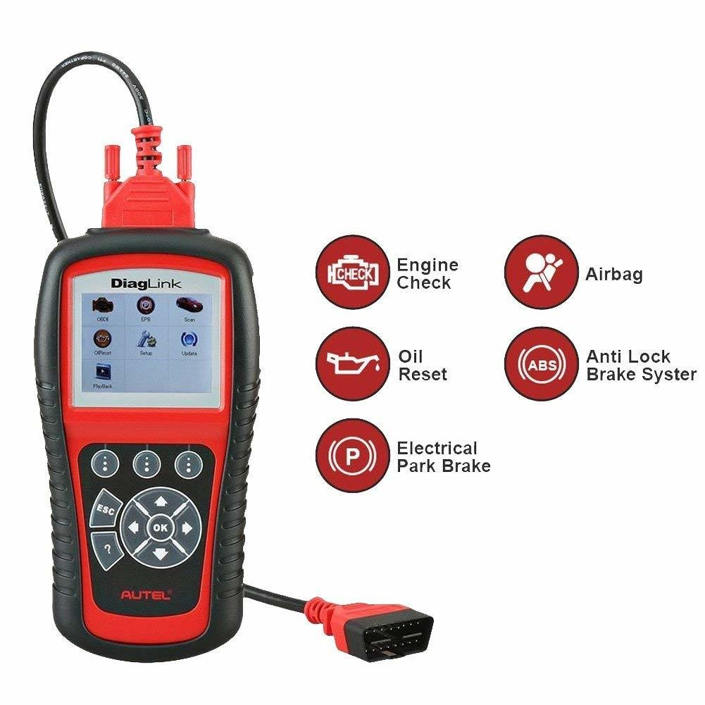 Autel Diaglink OBDII OBD2 Code Reader Full Systems Diagnostic Scanner DIY Version MD802 Engine/Transmission/ABS/SRS/EPB/Oil Reset Service