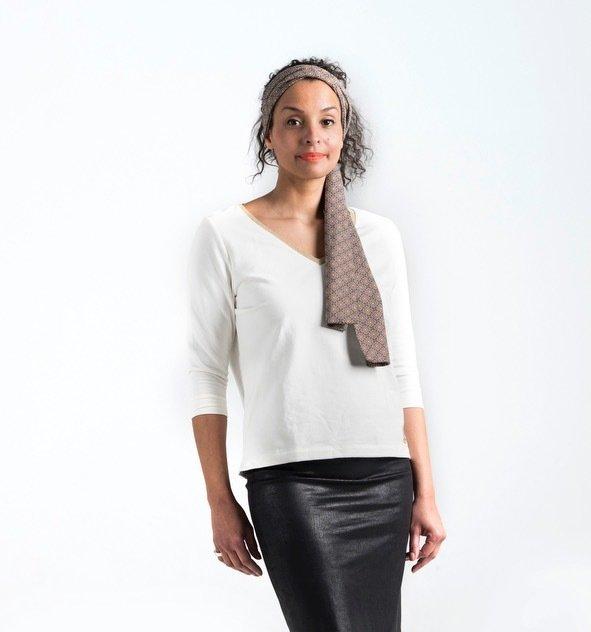 GOLDEN CIRCLE – Sweater met V-hals