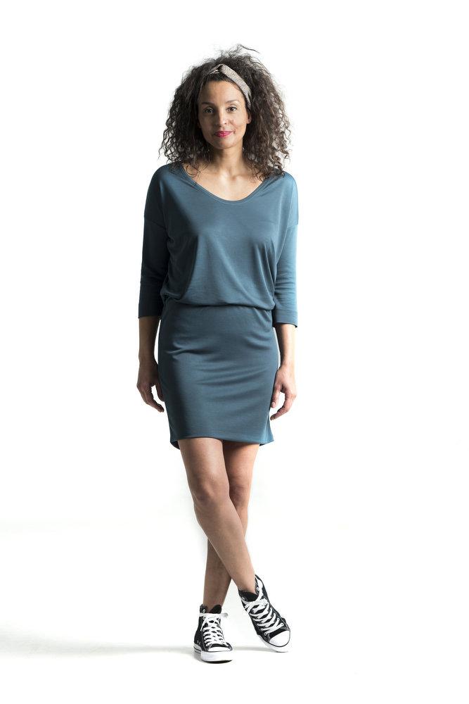 SUNNY SIDE - Soepelvallende jurk in zacht modal