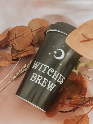 Witches brew travel cup and spoon