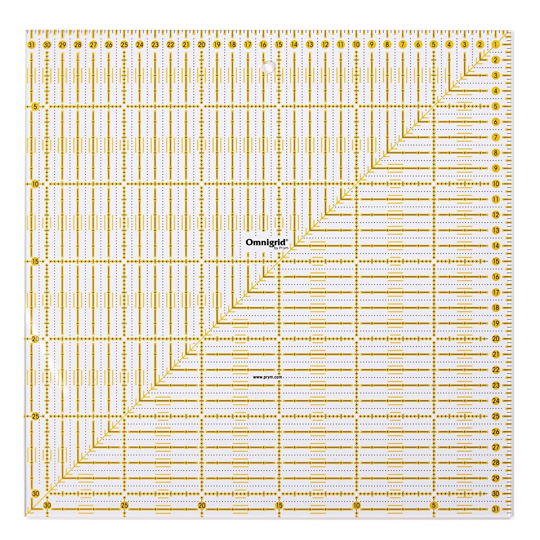 universeel liniaal 31.5x31.5 cm