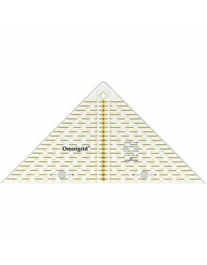 driehoek voor 1/4 kwadraten 20 cm