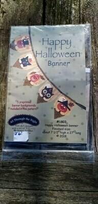 Patroon happy Halloween banner