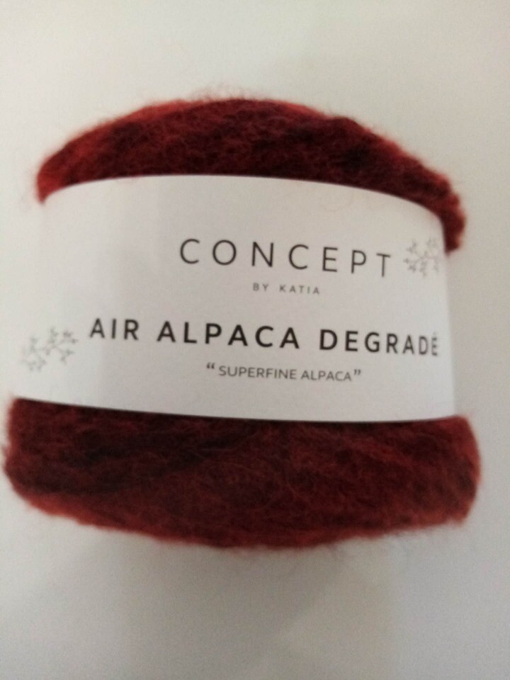 Air alpaca degradé kleur 69