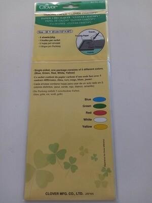 clover  carbonpapier voor stof 5verschillende kleuren