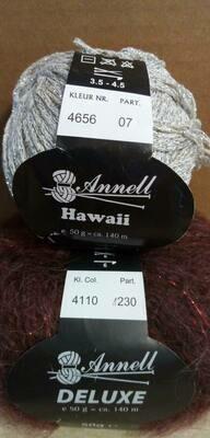 Breimodel oktober 2020 : Deluxe paars & Hawaii grijs (op bestelling)