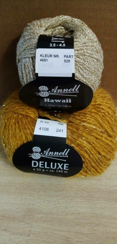 Breimodel oktober 2020 : Deluxe oker & Hawaii goud (op bestelling)