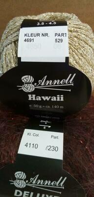 Breimodel oktober 2020 : Deluxe paars & Hawaii goud (op bestelling)