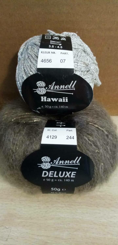 Breimodel oktober 2020 : Deluxe bruin & Hawaii grijs (op bestelling)