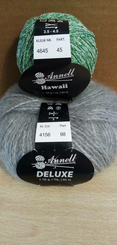 Breimodel oktober 2020 : Deluxe lichtgrijs & Hawaii groen (op bestelling)