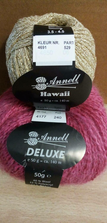 Breimodel oktober 2020 : Deluxe roos & Hawaii goud (op bestelling)