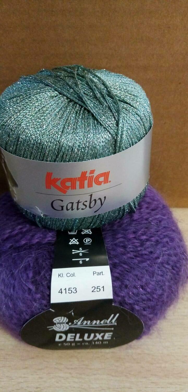 Breimodel oktober 2020  : Deluxe paars & Gatsby groen (op bestelling)