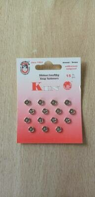 drukknopen 6.5-6 mm zilver