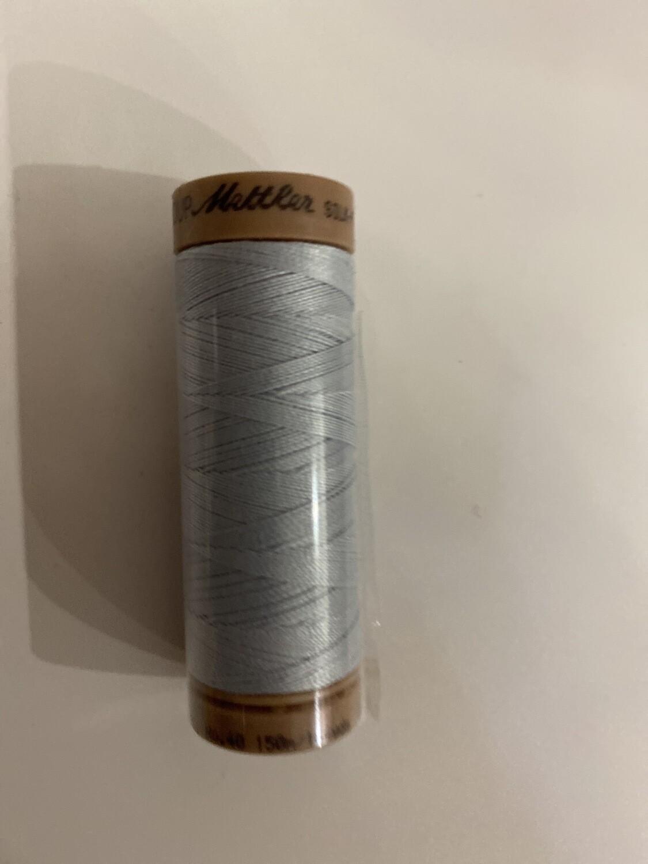 Silk Finish Cotton Lichtblauw / Lichtgrijs