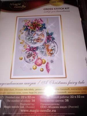 Magic Needle art 100-247 kruissteekpakket  a christmas fairy tale 22x32cm