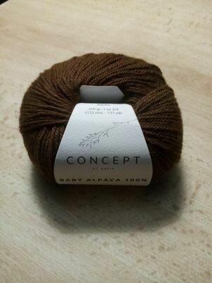 katia baby alpaca 100% kleur 509=bruin concept