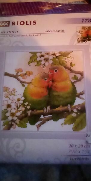 riolis 1780 lovebirds 20x20cm