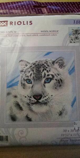 riolis 1886 snow leopard 30x30 cm