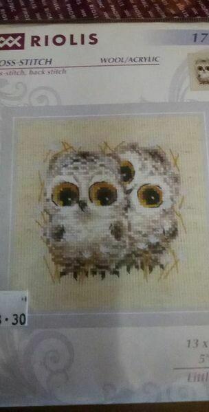 riolis 1755 little owls 13x13cm