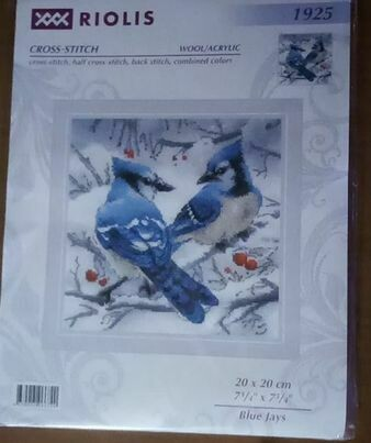 riolis 1925 blue jays 20x20cm