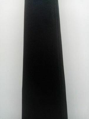 muslin zwart 2.40/m breed