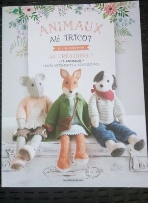 animaux au tricot van Louise Crowther