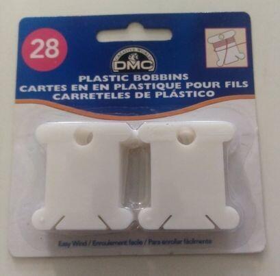 DMC opwindkaartjes plastic voor zesdraad