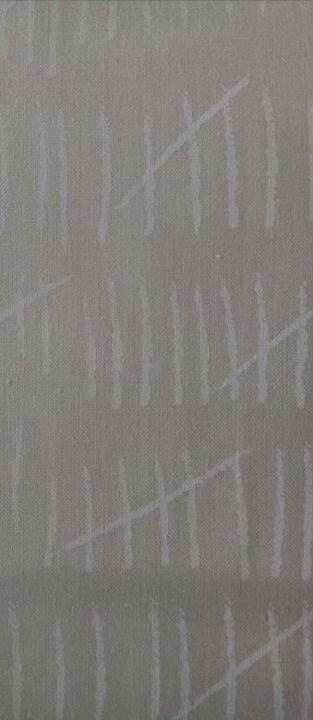 muslin mates 11 = ecru met gebr wit print= streepjes