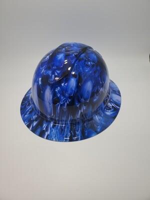 Full Brim Blue flame Skulls