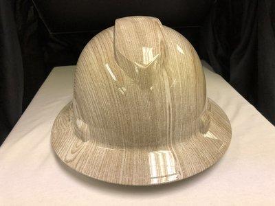 Full Brim Wood Grain Hard Hat