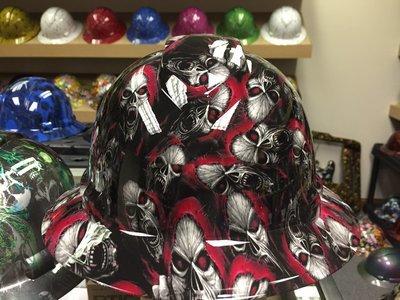 Full Brim Red Hooded Skull
