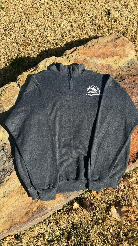 Men's quarter zipper collared sweatshirt, Snake River Stampede logos
