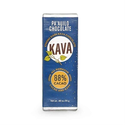 Chocolate Bar, Kava 88% Dark (Pa`auilo  Chocolate)