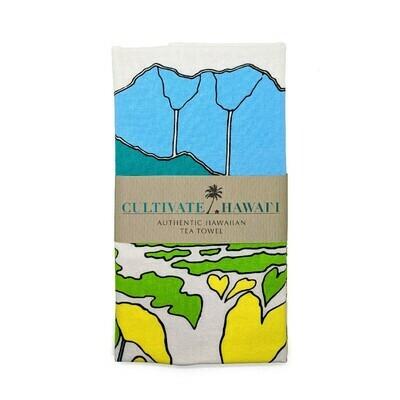 Tea Towel, Cotton Kalo (Cultivate Hawaii)