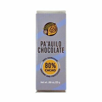 Chocolate Bar, Dark 80% (Paʻauilo Chocolate)