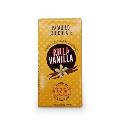 Chocolate Bar, Killa Vanilla 62% Dark (Paʻauilo Chocolate)
