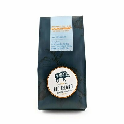 Big Island Coffee Roasters Hawaiian Harmony Espresso Blend Coffee, 7 oz (Med/Dark) | Hawaiian Blend