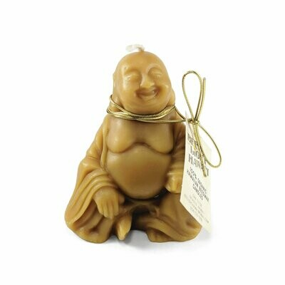 Candle, Beeswax Happy Buddha