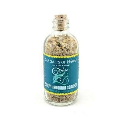 Sea Salts of Hawaii, Sea Salt Bottle - Spicy Hawaiian Seaweed (4 Oz.)