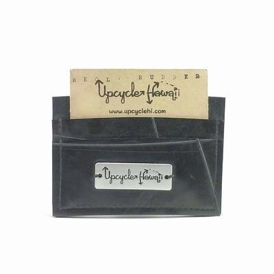 Card Holder/Minimalist Wallet, Reclaimed Rubber