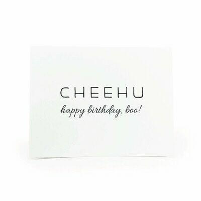 "Card, ""Cheehu Happy Birthday Boo!"""