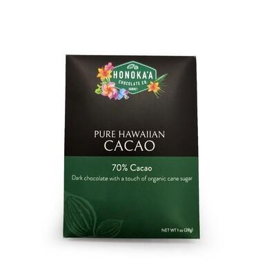 Honokaa Chocolate, 70% Chocolate Bar (1 Oz.)